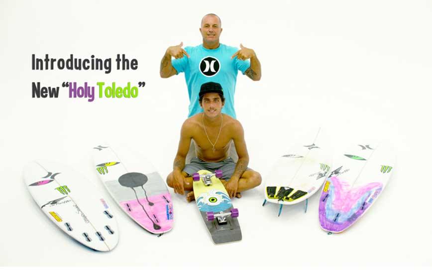 Filipe Toledo and Ricardo Toledo