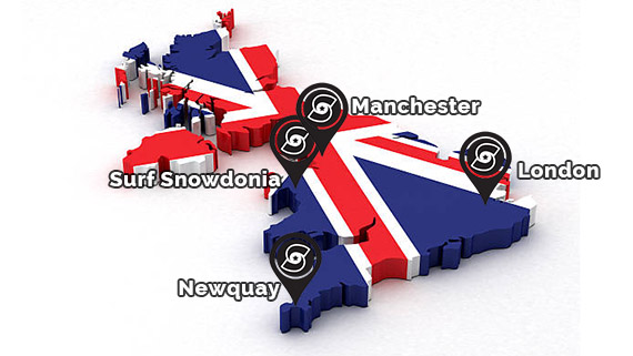 United Kingdom flag cut in the shape of the country's map
